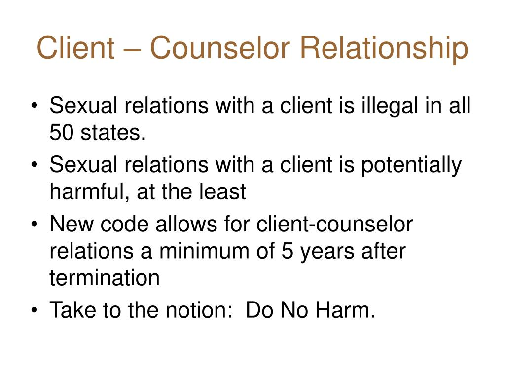 Client – Counselor Relationship
