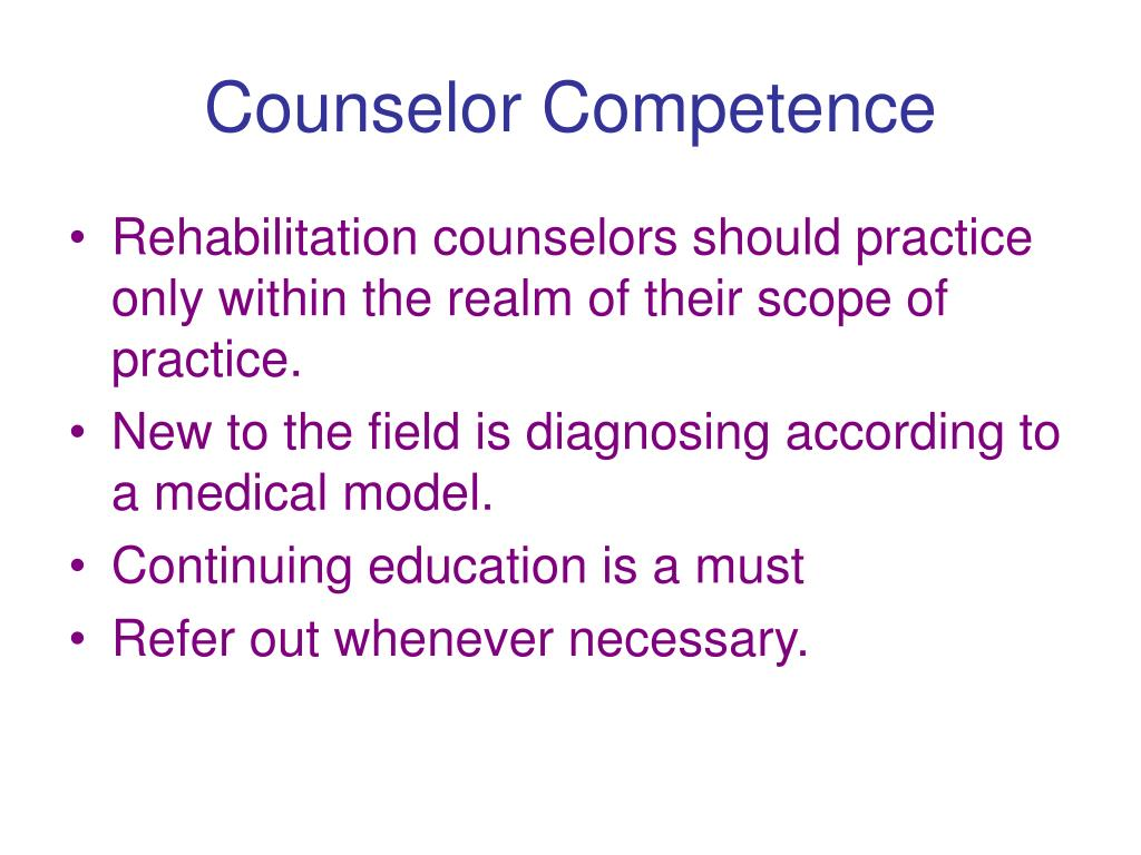 Counselor Competence
