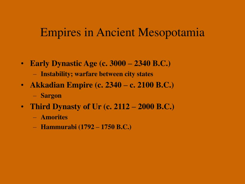 Empires in Ancient Mesopotamia