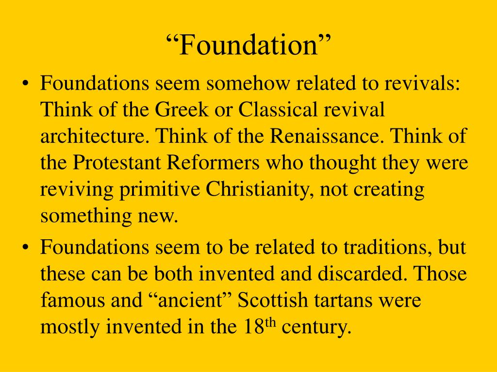 """Foundation"""