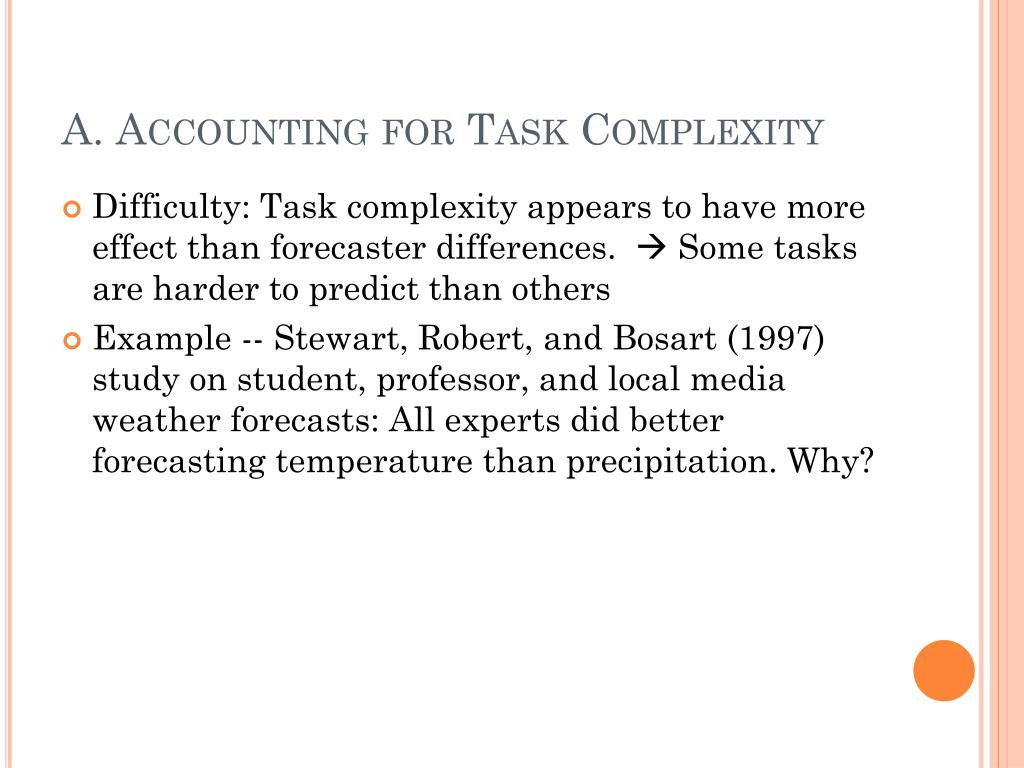 A. Accounting for Task Complexity