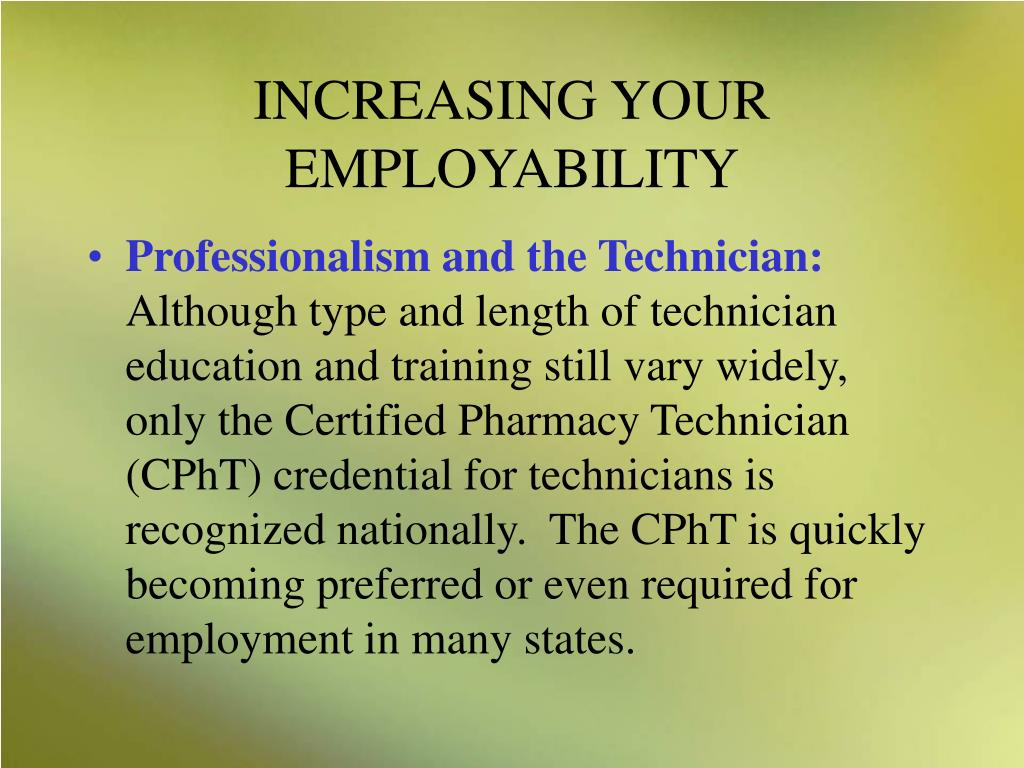 INCREASING YOUR EMPLOYABILITY