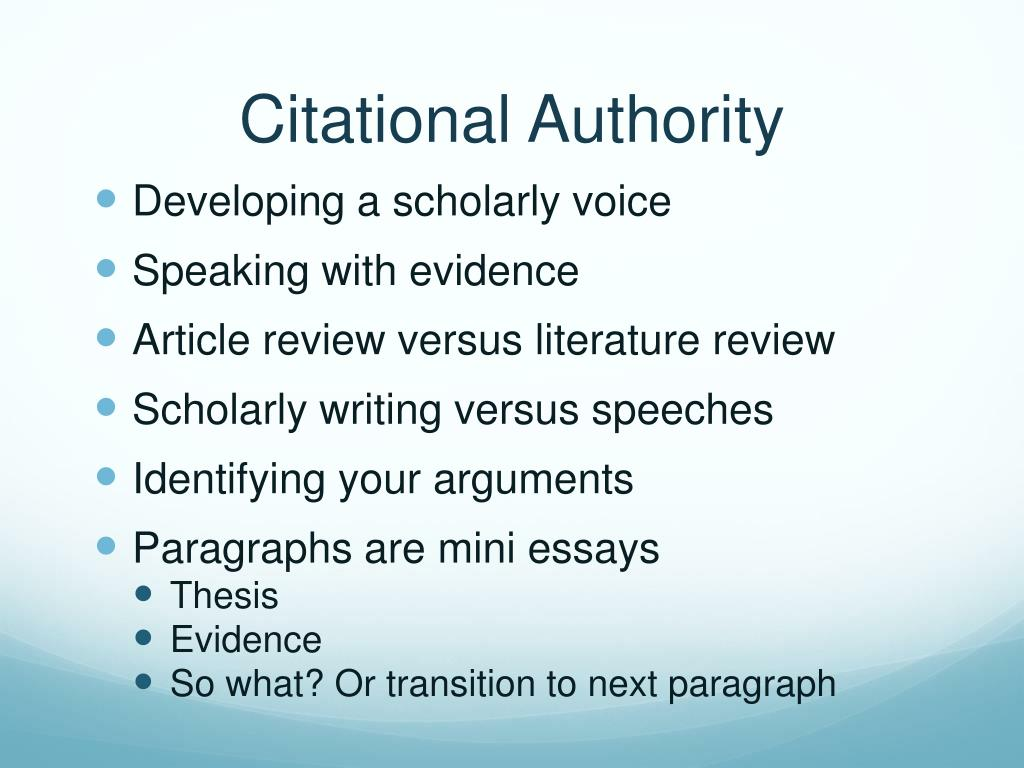 Citational Authority