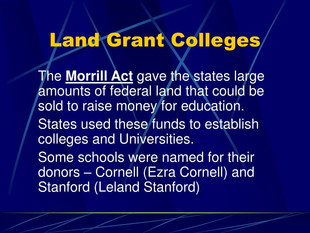Land Grant Colleges