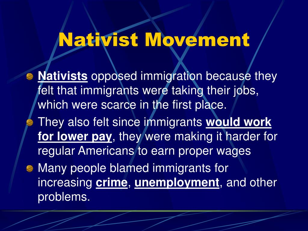 Nativist Movement