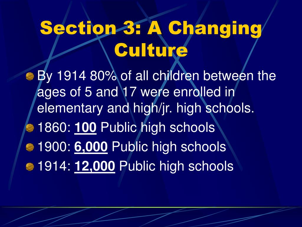Section 3: A Changing Culture