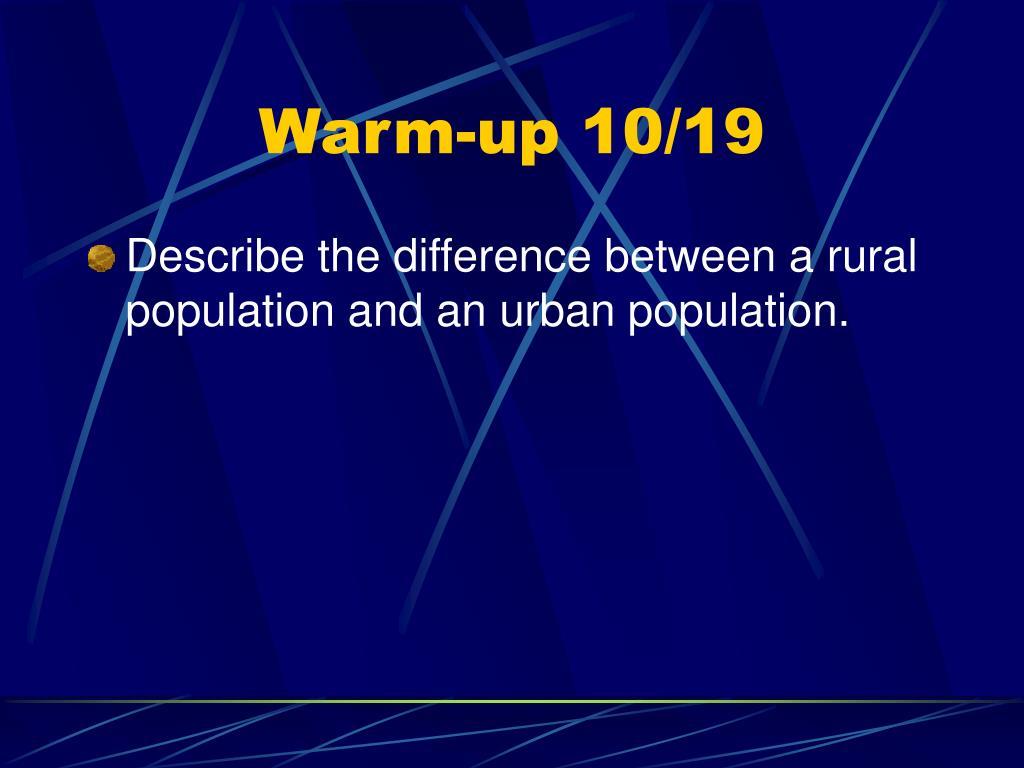 Warm-up 10/19