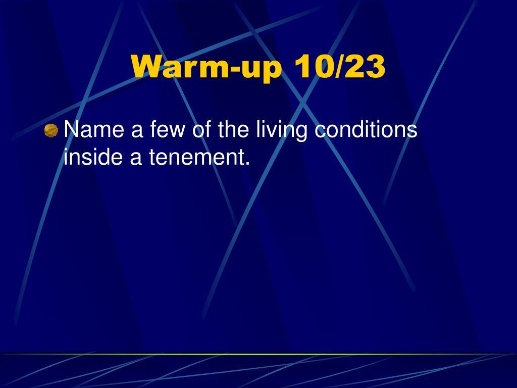 Warm-up 10/23