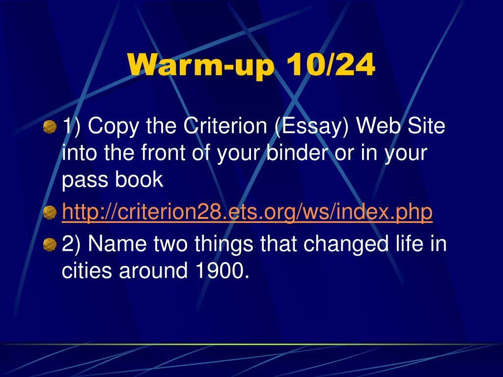 Warm-up 10/24
