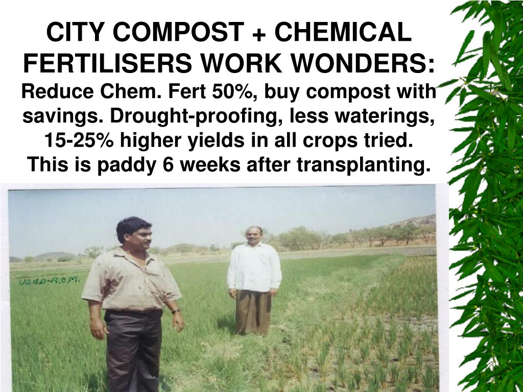 CITY COMPOST + CHEMICAL FERTILISERS WORK WONDERS: