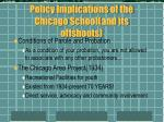 policy implications of the chicago school and its offshoots20