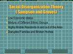 social disorganization theory sampson and groves