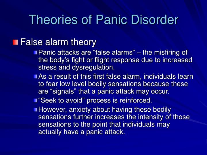 panic disorder essay conclusion Panic disorder is the sudden and repeated attacks of fear that last several minutes this disorder is characterized by a fear of disaster or loosing control even when there is no danger this disorder is characterized by a fear of disaster or loosing control even when there is no danger.