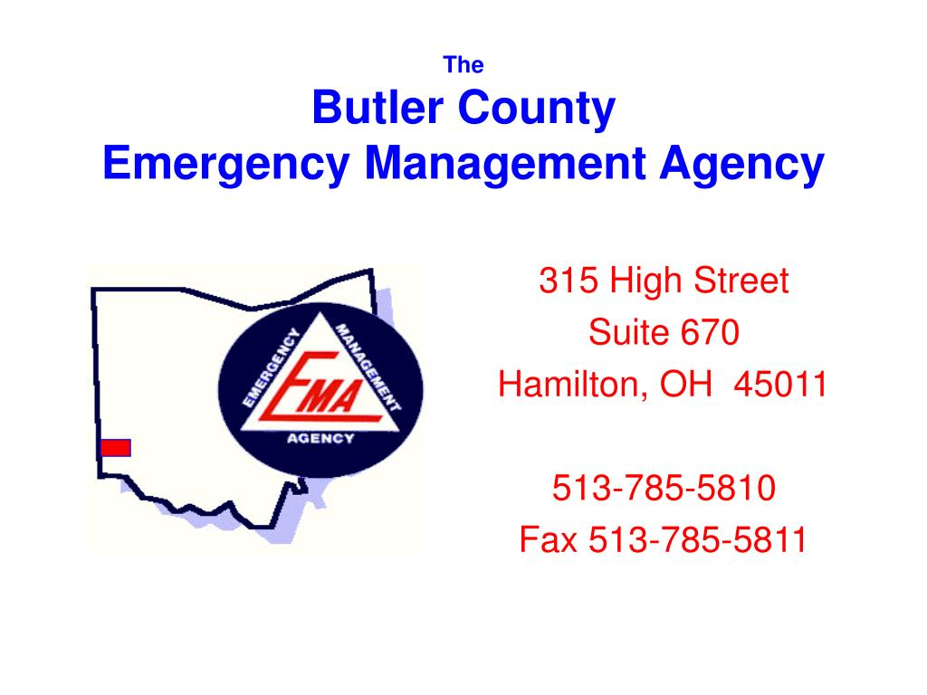 the butler county emergency management agency l.