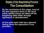 stages of the negotiating process the consolidation15