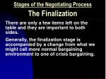 stages of the negotiating process the finalization