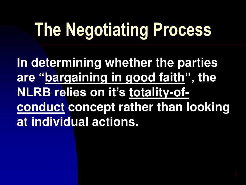 the negotiating process l.