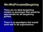 win win principled bargaining23