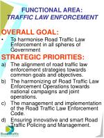 functional area traffic law enforcement