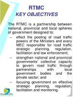 rtmc key objectives