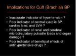 implications for cuff brachial bp