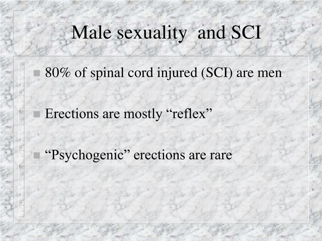 Male sexuality  and SCI