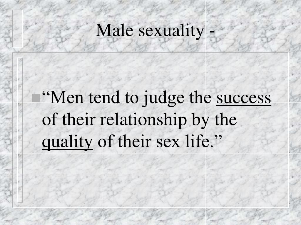 Male sexuality -