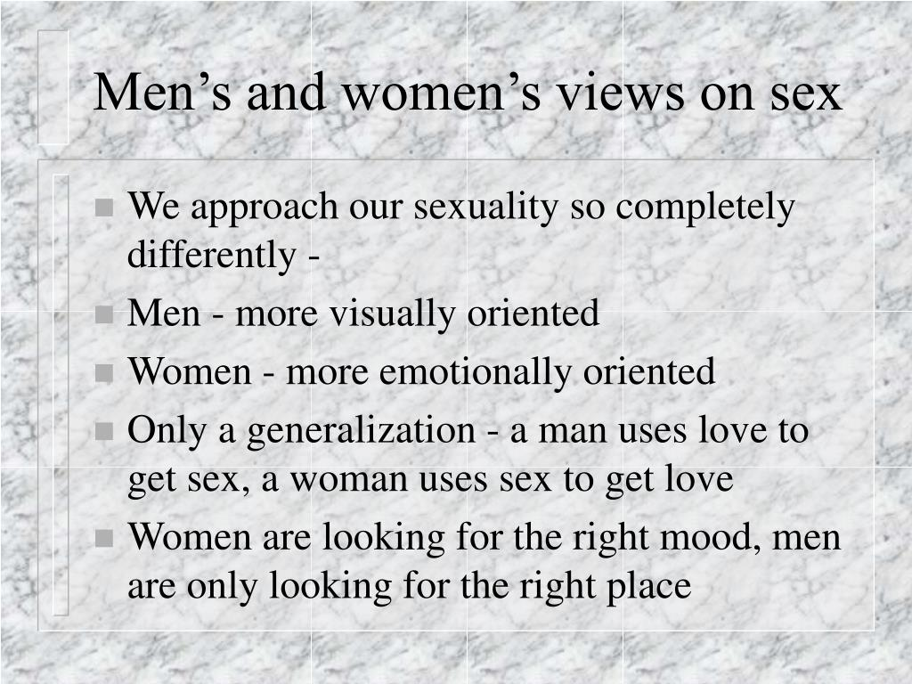 Men's and women's views on sex