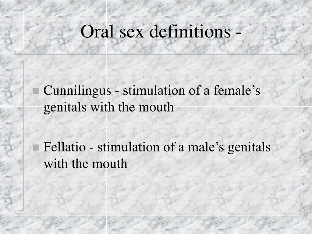 Oral sex definitions -
