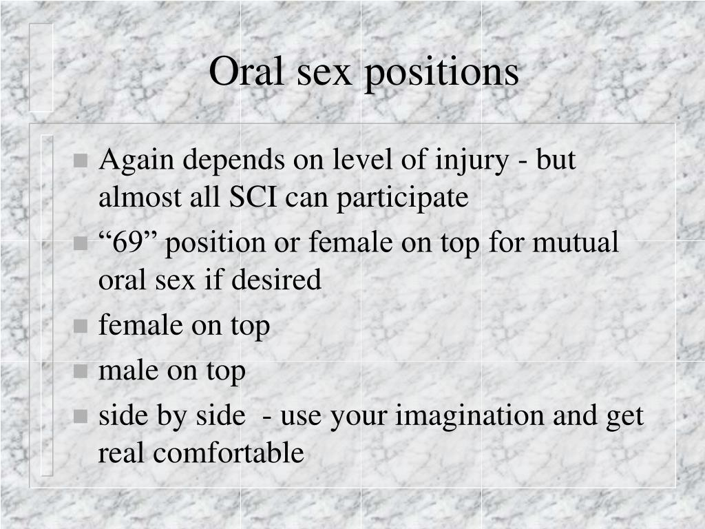 Oral sex positions