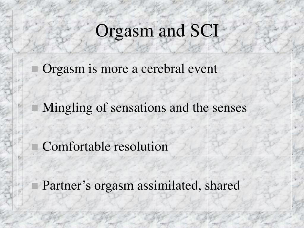 Orgasm and SCI