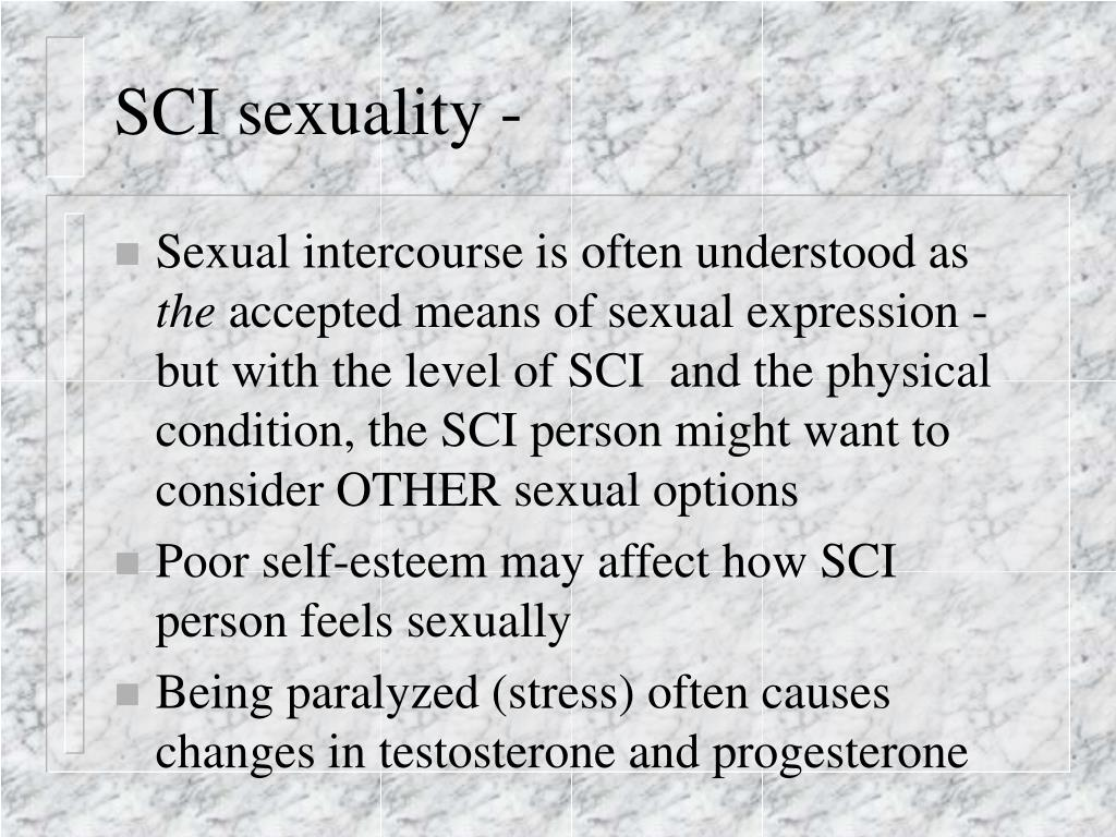 SCI sexuality -