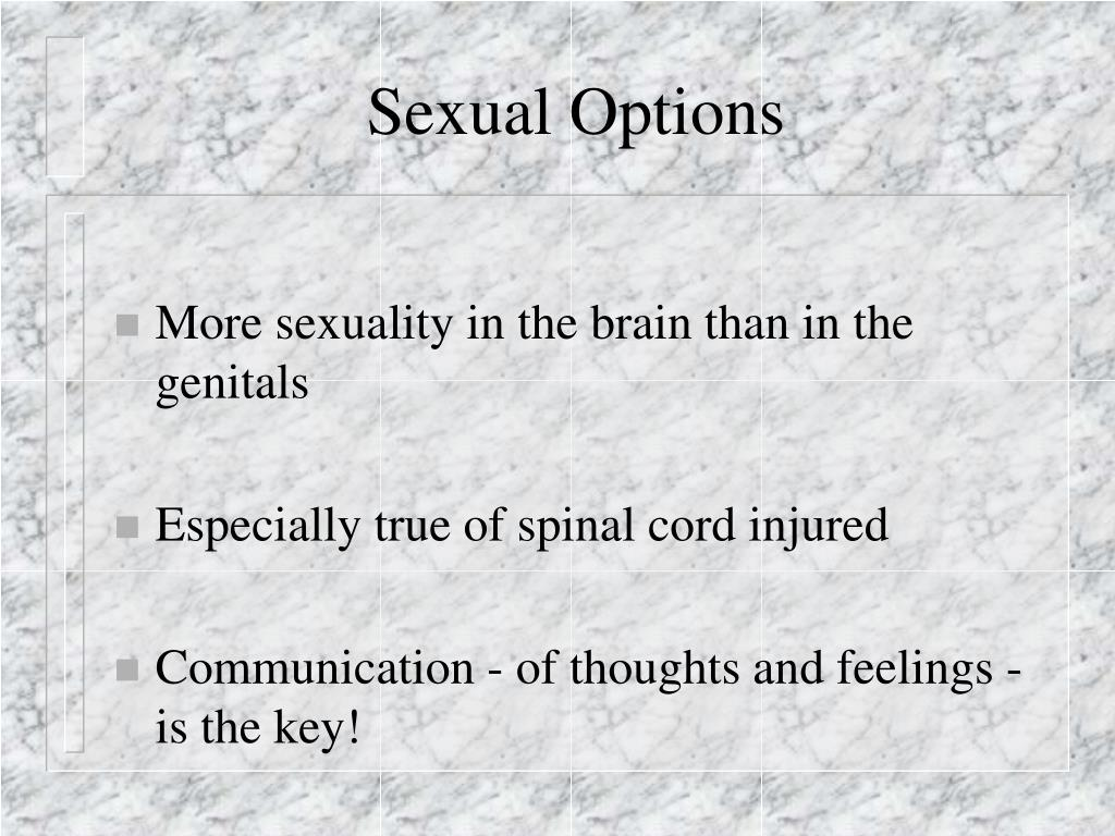 Sexual Options