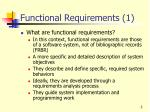 functional requirements 1