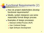 functional requirements 2