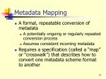metadata mapping