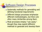 software design processes