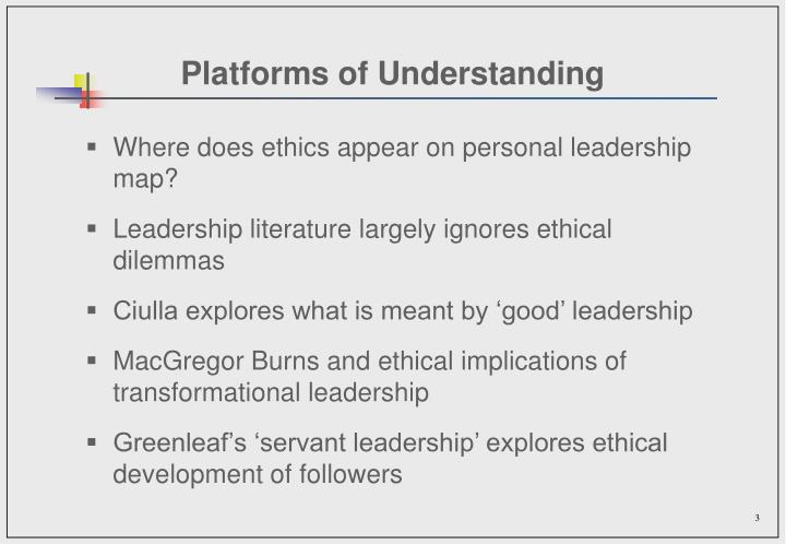 Platforms of understanding