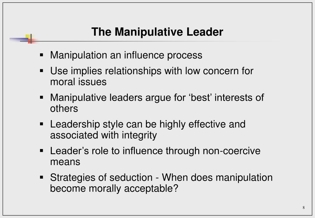 The Manipulative Leader