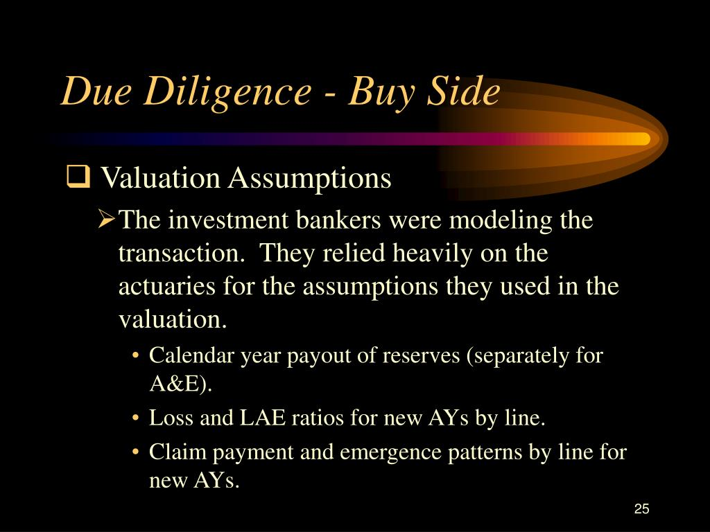 Due Diligence - Buy Side