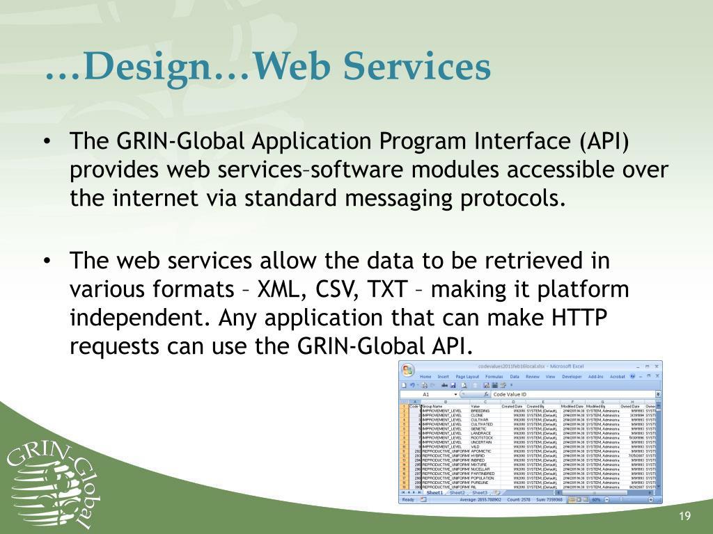 …Design…Web Services