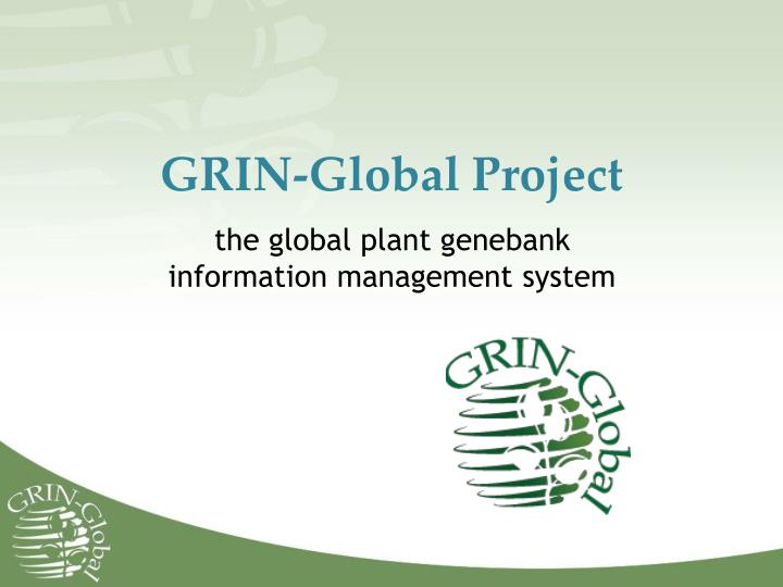 Grin global project