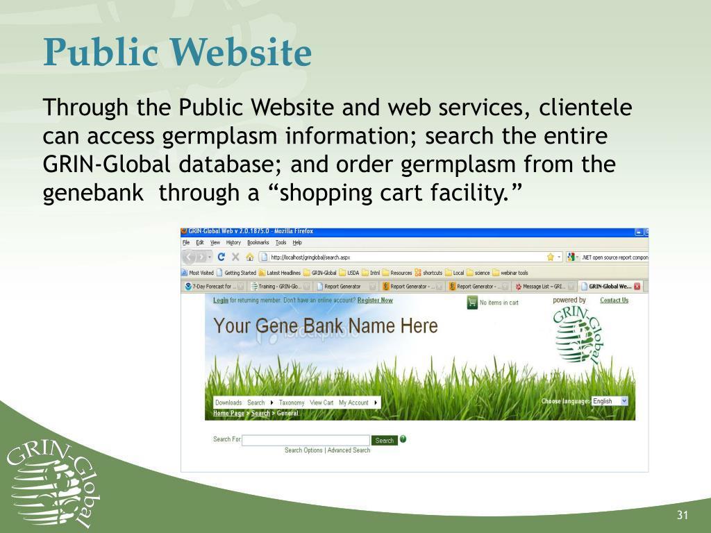 Public Website