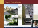 transit parking studies