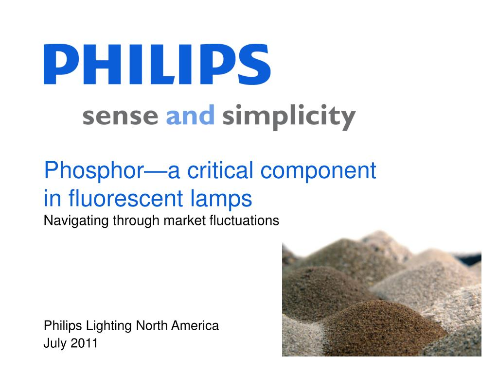 Phosphor—a critical component