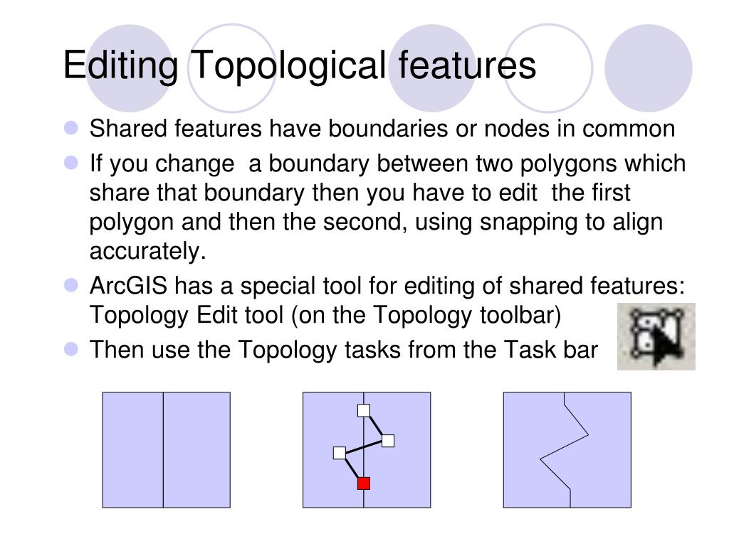 Editing Topological features