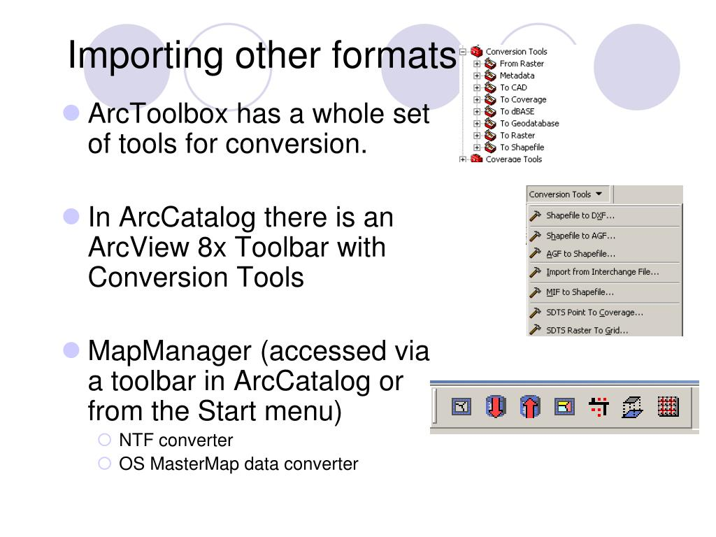 Importing other formats