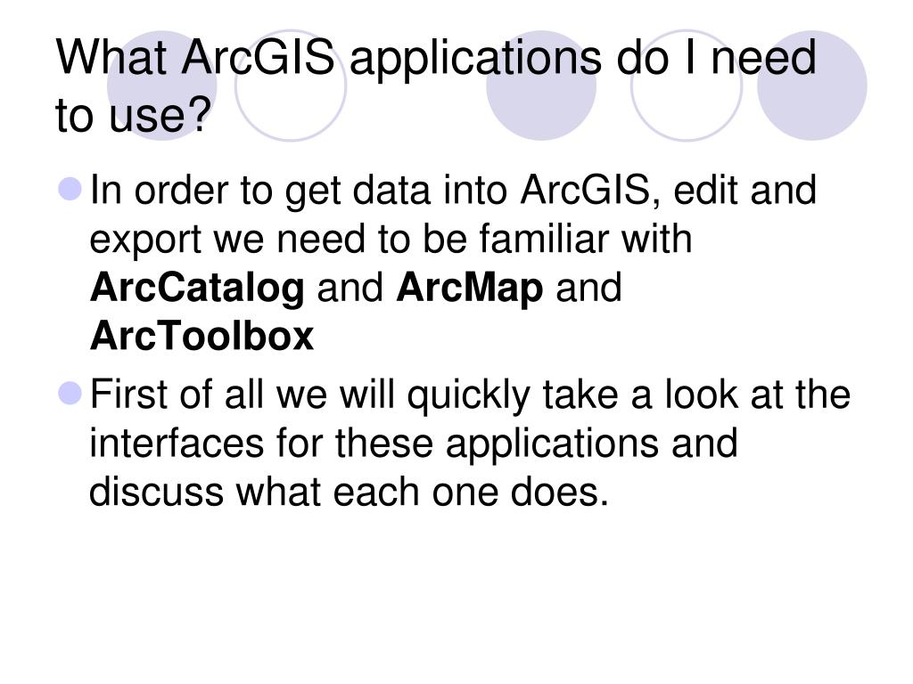 What ArcGIS applications do I need to use?