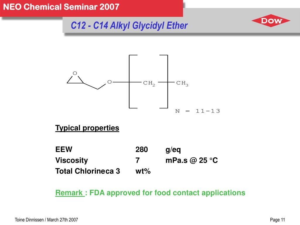 C12 - C14 Alkyl Glycidyl Ether