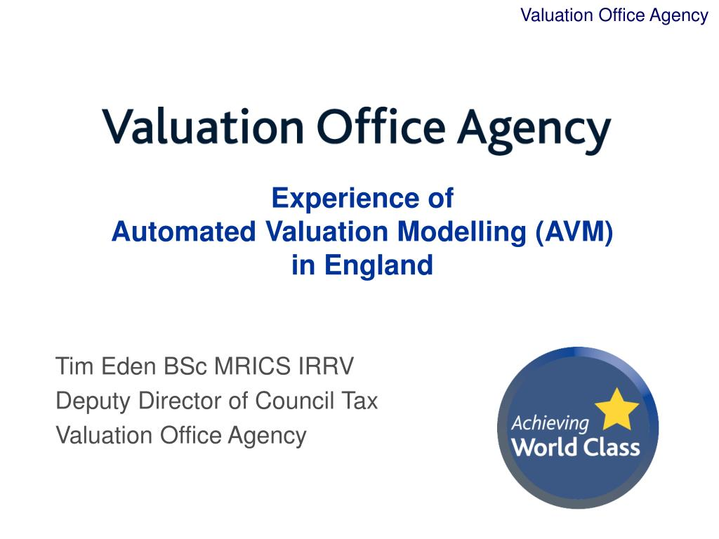 experience of automated valuation modelling avm in england l.